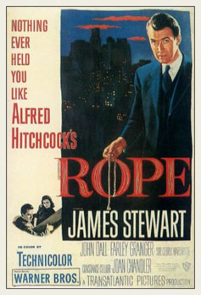 alfred hitchcock Rope movie poster jimmy stewart